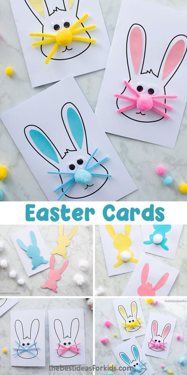 Easter Bunny Card The Best Ideas For Kids Kids Easter Cards Diy Easter Cards Easter Kids