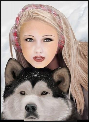 Mis bellas imagenes - Mujer y perro