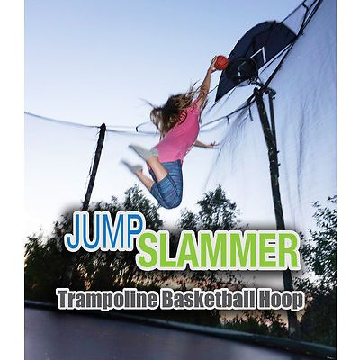 Trampoline Pro Jump Slammer Trampoline Basketball Hoop