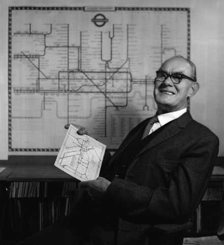Harry Beck - designer of London tube map / Selected by www.20emesiecle.be