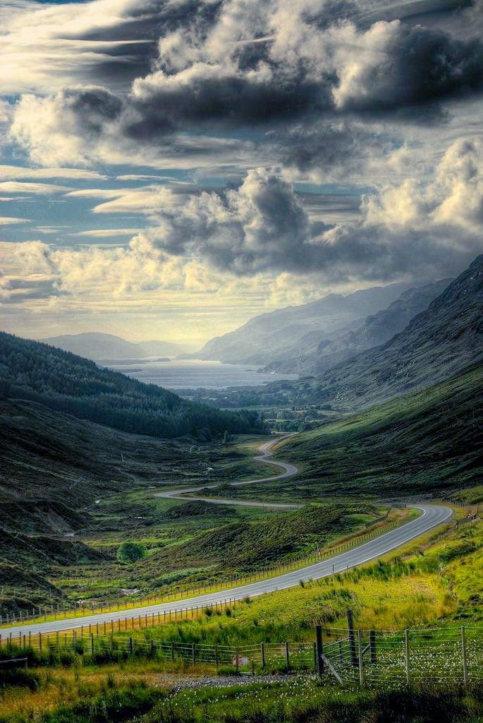 Road to the coast (Scotland) by Thomas Bucher
