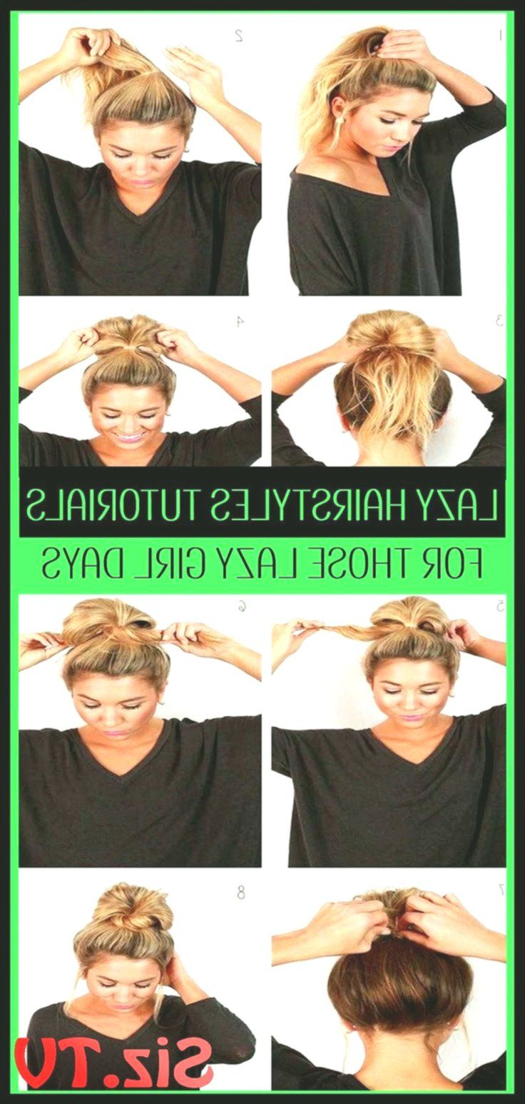 10 Easy Lazy Girl Hairstyle Ideas Step By Step Video Tutorials For Lazy Day Runn...