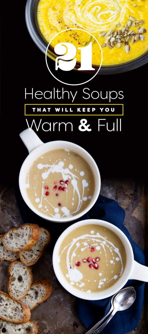 Make a big, double batch of soup for dinner this week — then freeze half as leftovers for later this winter. | 7 Ways To Eat Healthier This Week