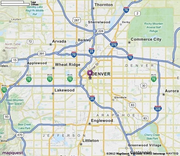Mapquest Denver Colorado