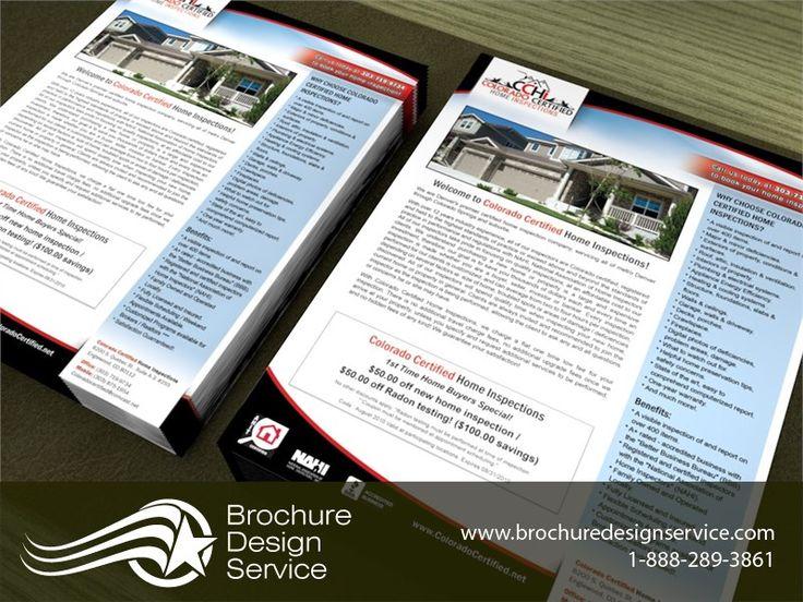 Ad Flyer Design For Home Inspections Brochure Design Agency Http