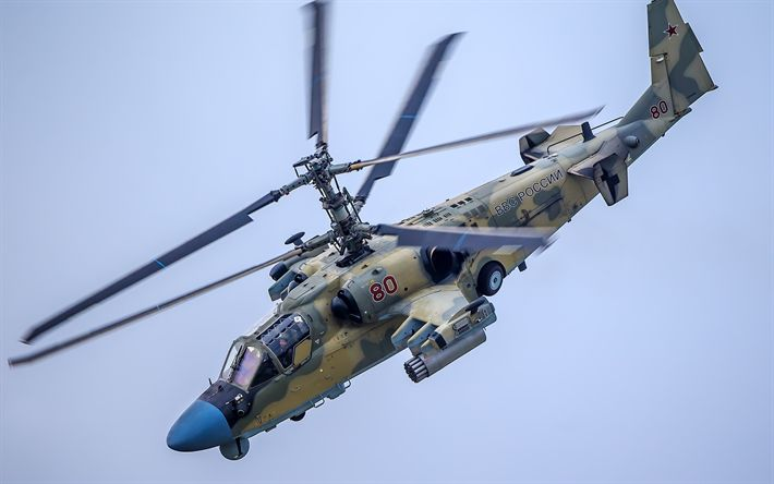 Lataa kuva combat helikopteri, Ka-52, Alligaattori, tiedustelu-helikopteri lakko, Venäjän Ilmavoimat, Venäjä