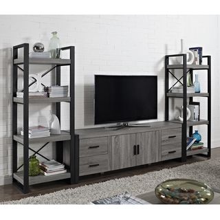 70-inch Urban Blend Ash Grey Wood TV Stand   Overstock.com Shopping - Great Deals on Entertainment Centers