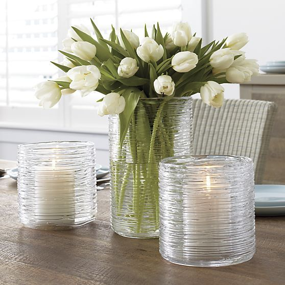 Spin Large and Small Hurricane-Vase in Top Accessories | Crate and Barrel