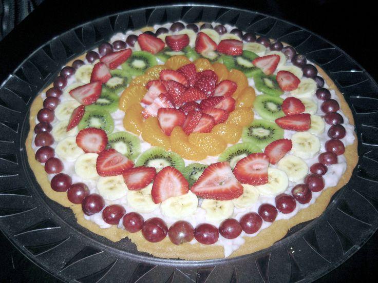 Fruit PizzaSugar Cookies, Delicious Fruit, Fruit Pizzas, Desserts Foodies, Pizza Recipes, Desserts Sweets, Desserts Pizza, Fruit Pizza Recipe, Food Drinks Recipe
