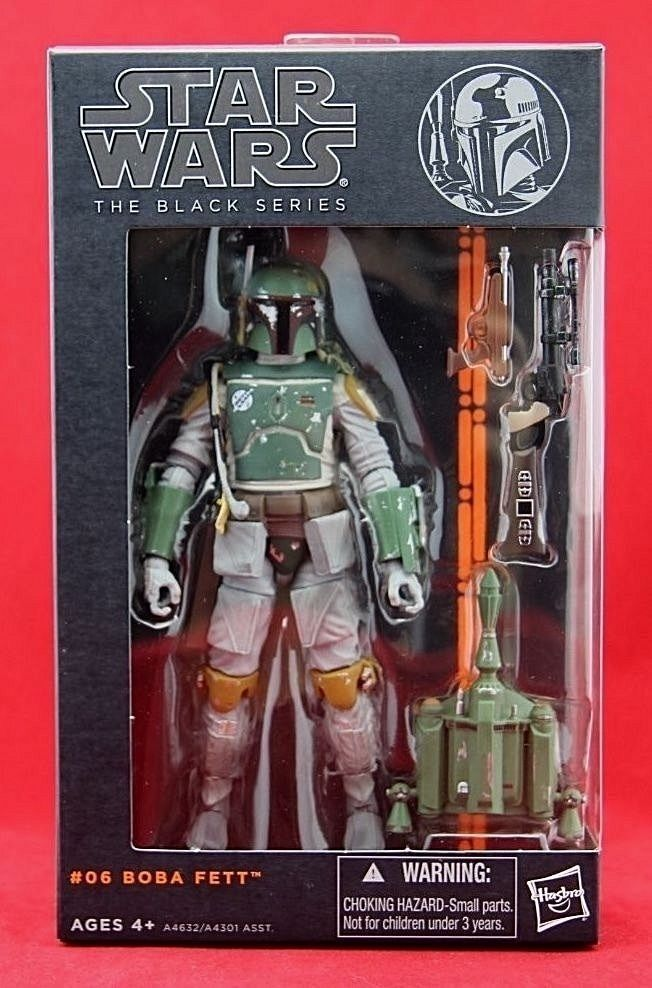 "Boba Fett Star Wars Black Series 6"" Hasbro Figure Wave 2 2013 Free Shipping  #Hasbro"
