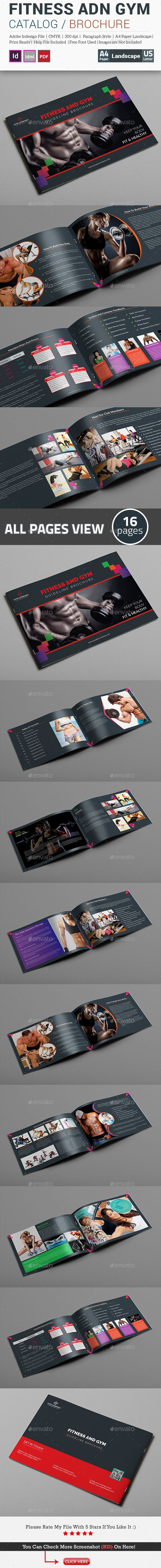Fitness and Gym Guideline Brochure Template InDesign INDD. Download here: graphicriver.net/…