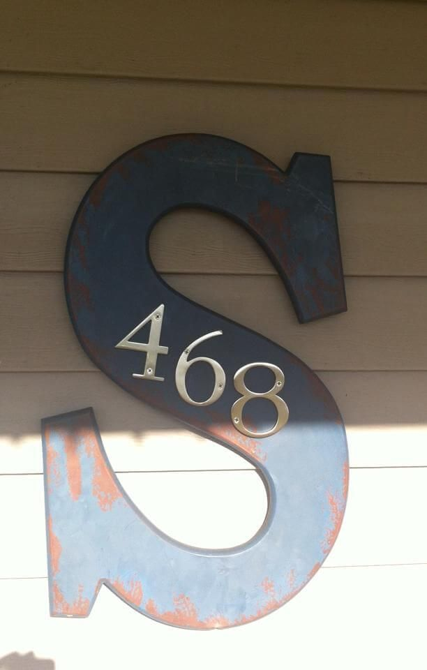 17 best ideas about house numbers on pinterest diy house - Creative house number signs ...