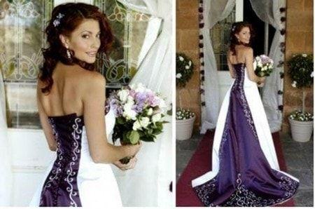 Abito bianco per matrimonio fiori