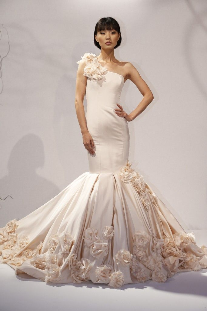 Fall 2013 Bridal Trends: TRUMPET CALL (Dennis Basso for Kleinfeld Bridal Spring 2013)