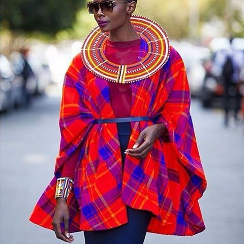 African chic clothing, Masai influences