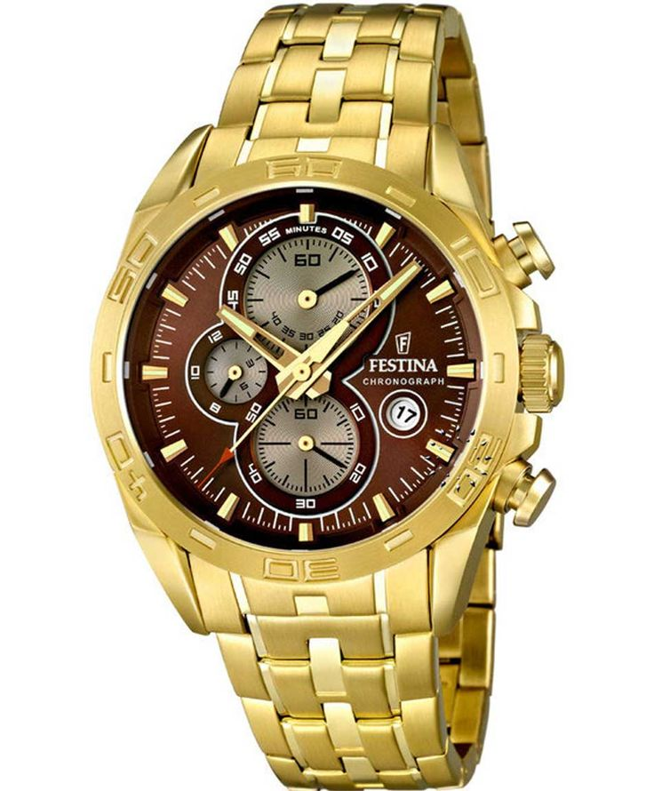 FESTINA Gold Chrono Stainless Steel Bracelet Τιμή: 249€ http://www.oroloi.gr/product_info.php?products_id=36413