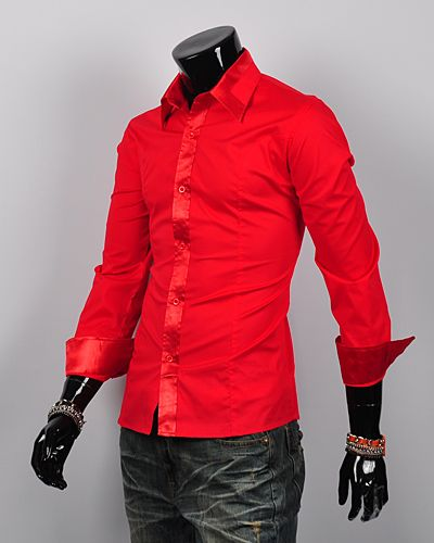 Red+Outfits+for+Men | ... -silk-mens-dress-shirts-Casual-shirts-slim-fit-shirts-for-men-Red.jpg