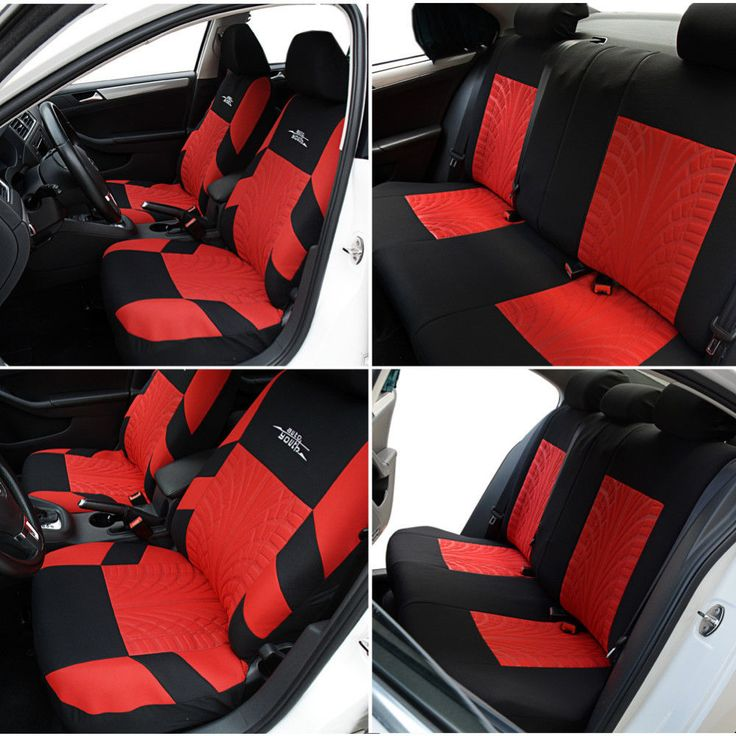 Embroidery Car Seat Covers Set Universal Fit Most Cars Covers #AUTOYOUTH