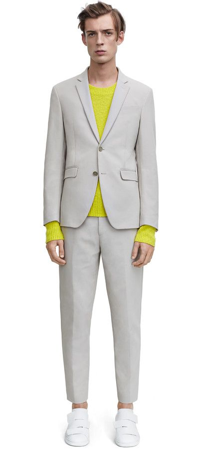 Aron singled breasted suit jacket in crips cotton blend #AcneStudios #SS15 #menswear