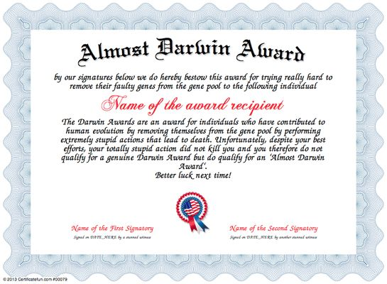 funny certificates for employees templates - 8 best fun certificate templates images on pinterest