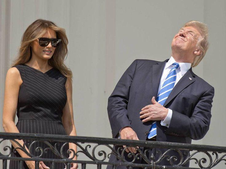 Muss das Weisse Haus bald eine Pressemitteilung zur schwindenden Sehkraft des US-Präsidenten Trump herausgeben? Spötter im Netz sind sich sicher. Mal wieder typisch: Da findet die erste totale Sonnenfinsternis seit 99 Jahren in Nordamerika statt – und am Ende redet die ganze Welt nur über...