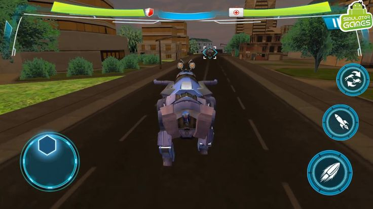 Angry Robot Cop Bullfighting Transform Bike Games - Android Gameplay