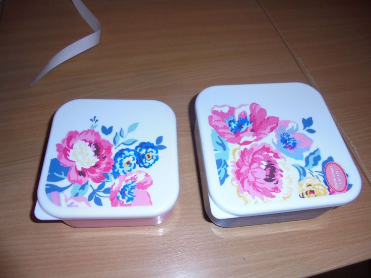 BNWT Cath Kidston Lunch boxes x2 in a set Windflower | eBay