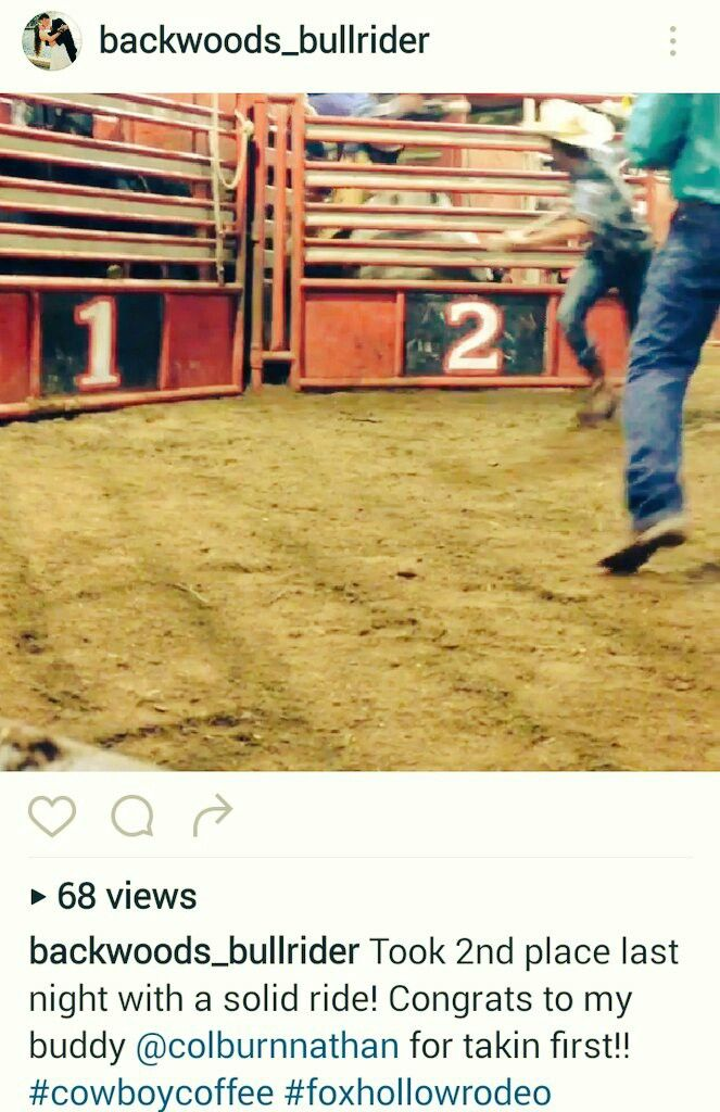 Bull Riding Rodeo by Rider Camron Deing View the Video on his Page https://www.instagram.com/backwoods_bullrider/ Team Cowboy Coffee Chew #video #rodeo #cowboys #bullriding