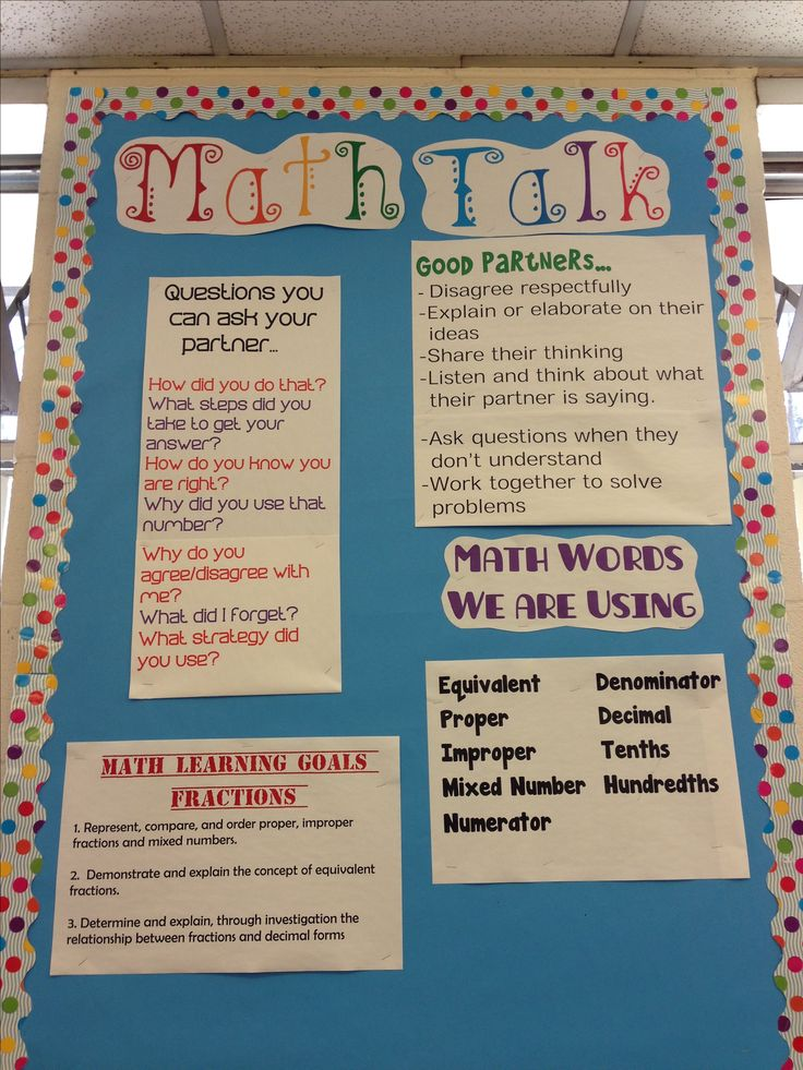 To help students establish a math community. This is essential for our three part math lessons.
