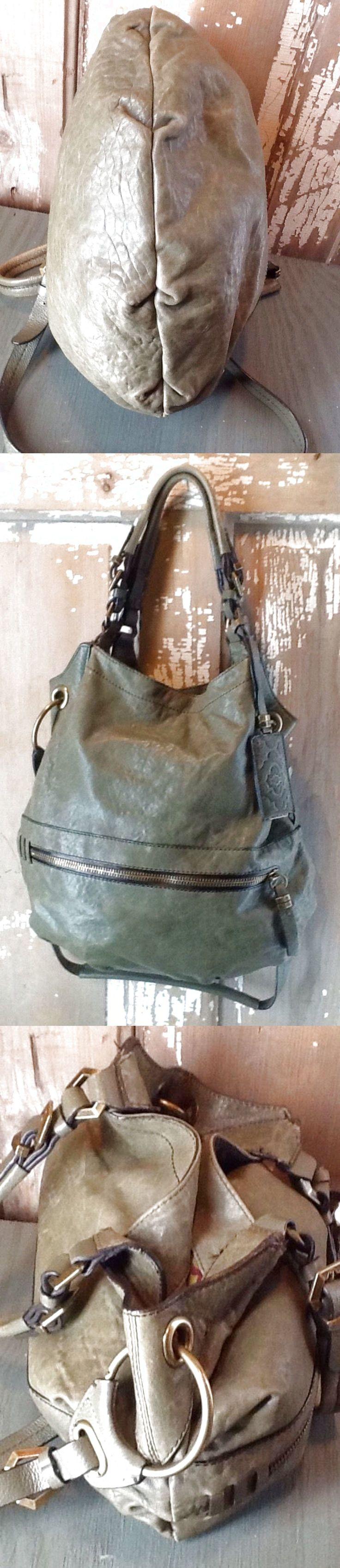 "OrYany Gorgeous Green Leather Hobo Bag H 15""X W16"" Sydney $50.0"
