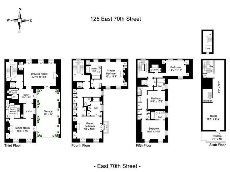 Nyc Townhouse Floor Plans: Bunny Mellon's Upper East Side Townhouse Wants $46 Million