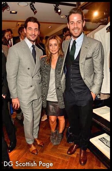 #DavidGandy , Louise Redknapp & Jamie Redknapp  at the opening of the THOM SWEENEY store #2014 .
