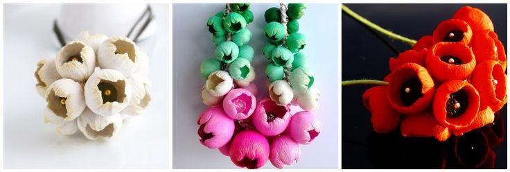 A great tutorial for making these beautiful polymer clay flower blossoms. By Lillian de Vries, at the clayground.