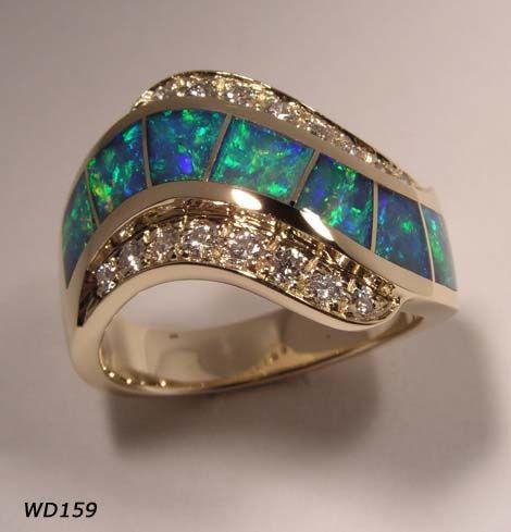 Australian opal and diamonds.