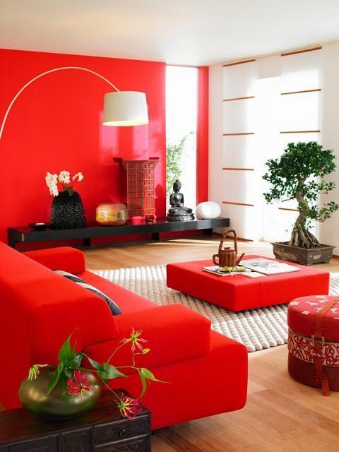 Die besten 25+ Sofa rot Ideen auf Pinterest Rote couch, Rotes - wohnzimmer grau rot