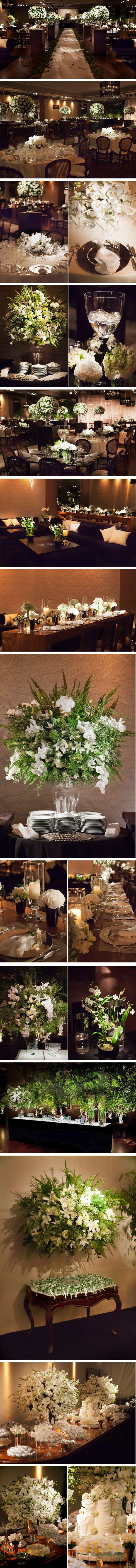 decoração branca, preto e verde!