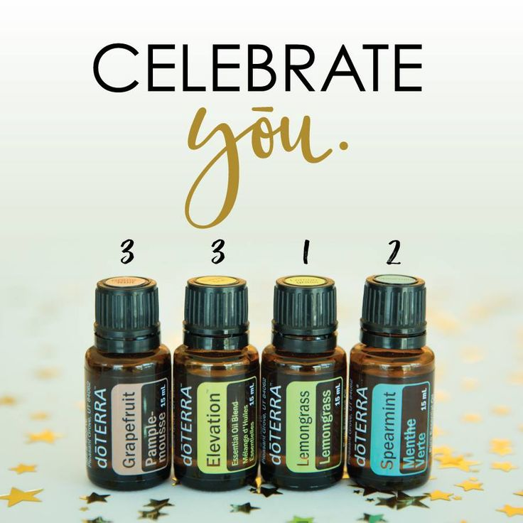 We cannot wait to celebrate YOU! this coming week!  Let us know what this blend makes you want to CELEBRATE!