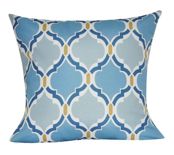 """21"""" x 21"""" Blue Damask Decorative Pillow P0087A-2121P"""