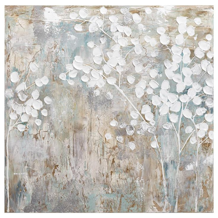 Abstract Blossom Oil Painted Canvas | Bouclair.com