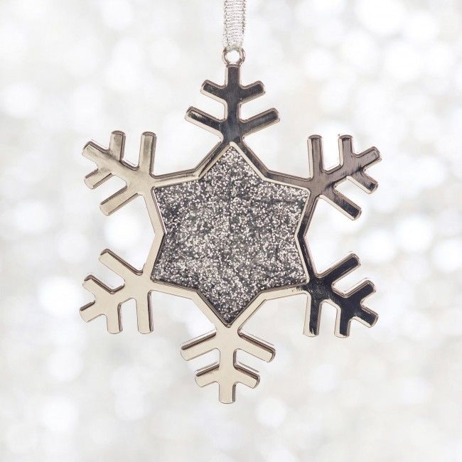 This snowflake won't melt while it decorates your Christmas tree.