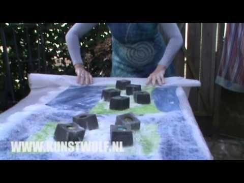 Kunstwolf - losse grote UPWOLFING fascinating tut on felting in more texture