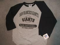 jordans shoes for cheap San Francisco Giants BlackGray large L Jersey Tee 34 sleeve new wtags wfree shipping  Dodge