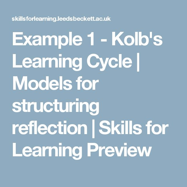 reflection adult learning theories Social learning theory the theory and practice of graduate adult education brookfield (ed) reflection in teacher education.