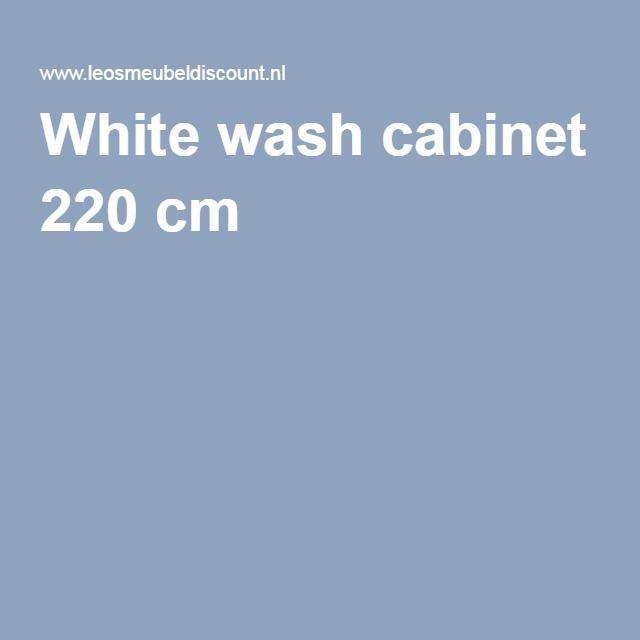 White wash cabinet 220 cm