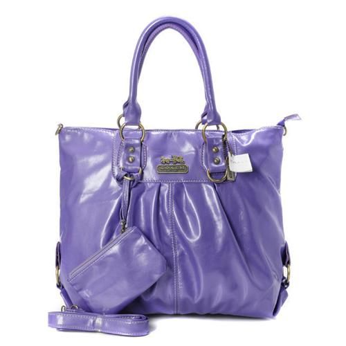 Look Here! Coach In Smooth Medium Purple Satchels BMA Outlet Online