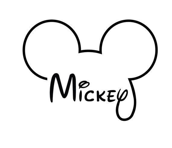 Mickey Mouse Head Silhouette Vector Svg And Png Digital Download Svg Graphic Png File Mickey Mouse Head Mickey Mouse Mickey