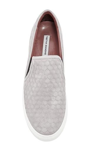 Huntington Cloud Quilted Kid Suede Sneakers by Tabitha Simmons Now Available on Moda Operandi