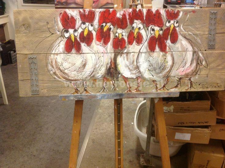 gezellige kippen /