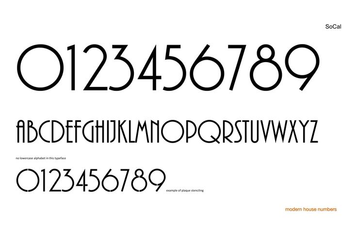 Modern font numbers check out our modern house numbers socal font