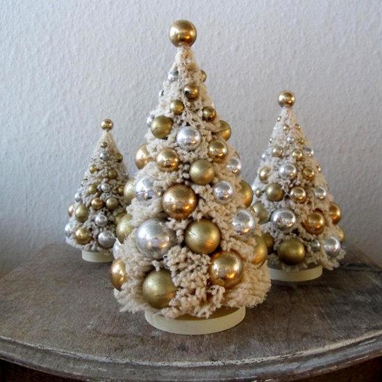114 best christmas gold silver theme images on pinterest for Silver and gold christmas tree theme